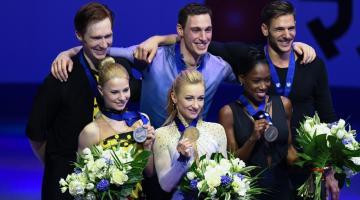 Немецкие фигуристы Савченко и Массо выигрывают мировую корону