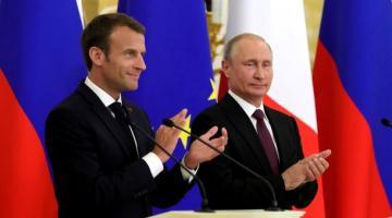 Макрон намерен обсудить с Путиным Сенцова