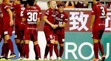 Иньеста забил второй гол в Японии за неделю, и снова – шедевр