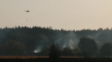Пожарные ликвидировали масштабный пожар в Харьковской области