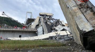 Двое украинцев пострадали в результате обрушения моста в Генуе