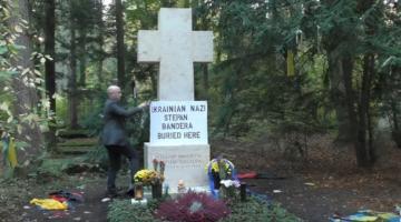 Кремлевский пропагандист надругался над могилой Бандеры в Мюнхене