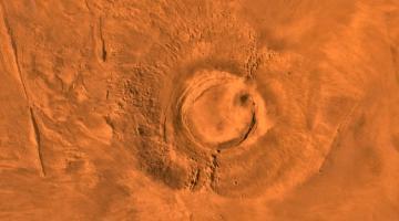 Впервые подробно исследован метеорит, рожденный в марсианском вулкане