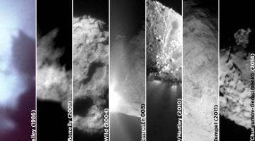#галерея | Семь самых близких контактов с кометами