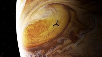 #фото | NASA получило детальные снимки Большого красного пятна Юпитера