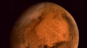 #фото дня | Первая цветная фотография Марса, сделанная индийским марсианским спутником
