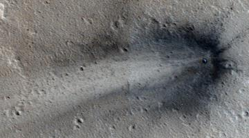 На Марсе в районе Элизиум найден свежий след внешнего воздействия
