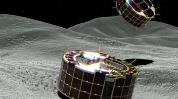 Японские роверы успешно сели на поверхность астероида и прислали первые фотографии