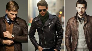 Мужская кожаная куртка - выбор модного цвета